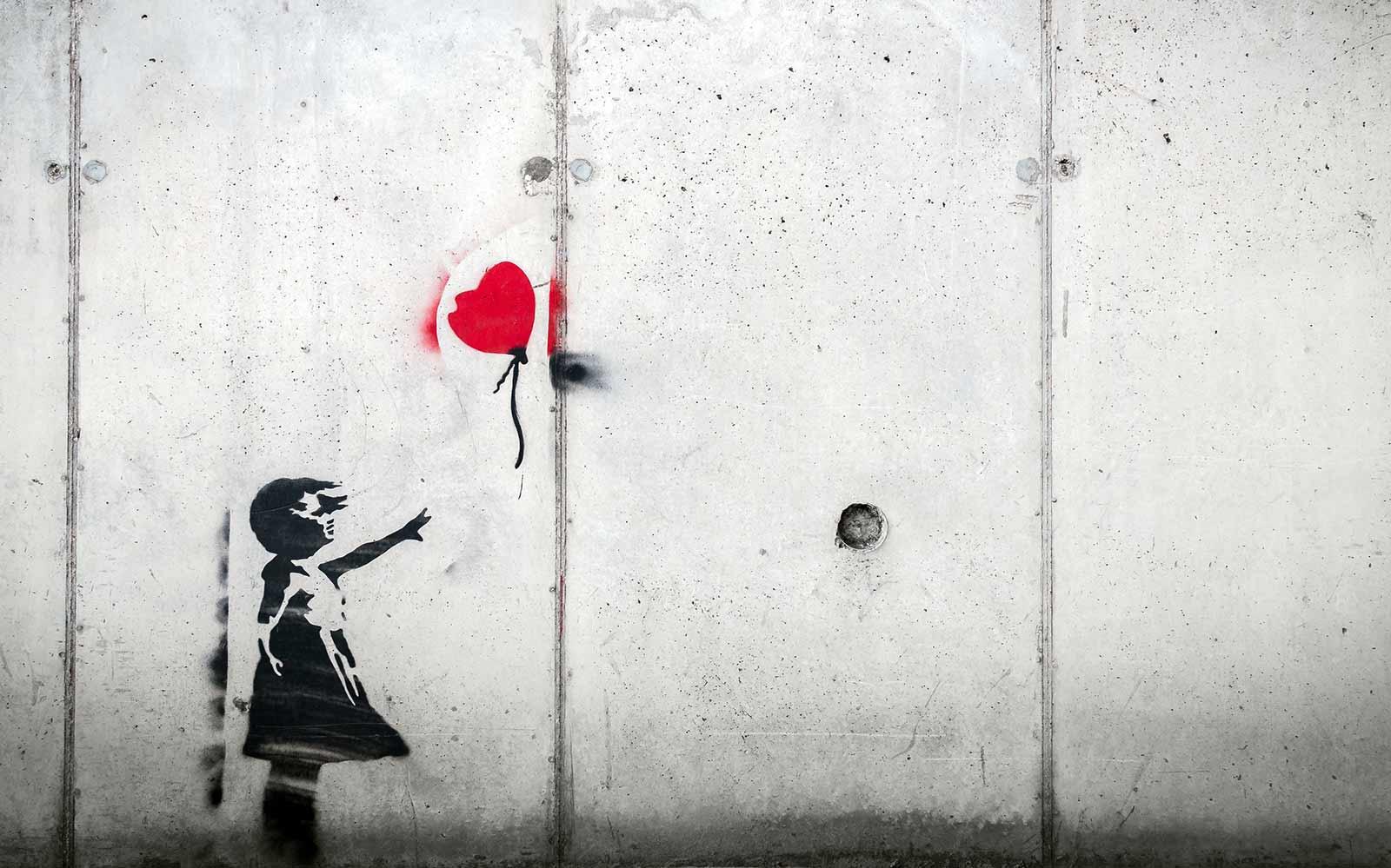 stencil on a wall